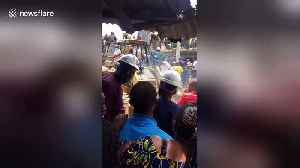 Chaos at scene of collapsed three-storey building in Lagos [Video]