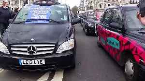 Cab drivers strike in central London causing mass traffic disruption [Video]