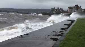 News video: Storm Gareth Brings Heavy Rain and Strong Winds to Scottish Coast