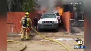 Man runs into burning home to save his dog [Video]