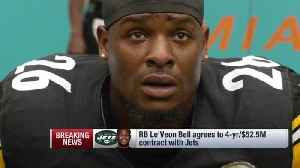 NFL Network Insider Ian Rapoport: New York Jets were 'clear' frontrunners for running back Le'Veon Bell from the start [Video]