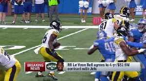 NFL Network Insider Ian Rapoport: New York Jets were only offer running back Le'Veon Bell considered [Video]