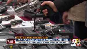 Kentucky governor signs unlicensed concealed carry bill [Video]