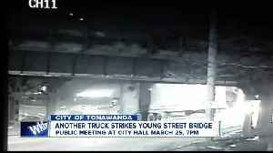 Yes, it happened again! Another truck strikes Young Street Bridge [Video]