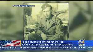 Community Invited To Funeral For WWII Veteran Who Has No Family To Attend [Video]