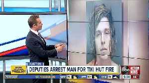 Man arrested for arson after video shows him lighting tiki hut on fire [Video]