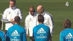 Zidane returns to Real's training pitch [Video]