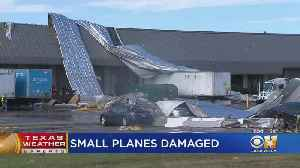 Roof Ripped Off Warehouse At DFW Airport [Video]