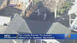 Human Remains Found In Queens Backyard [Video]