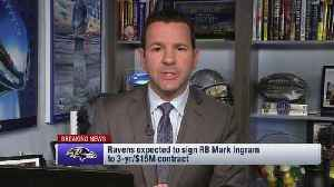 NFL Network Insider Ian Rapoport details running back Mark Ingram's expected contract with the Baltimore Ravens [Video]
