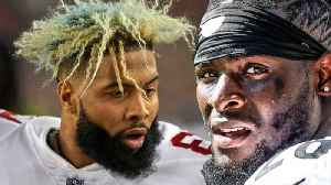 Odell Beckham Jr to Browns & Le'Veon Bell to Jets Creates INSANE Twitter FRENZY [Video]