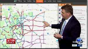 Highways and roads closed across Colorado because of blizzard -- 1:15 p.m. update [Video]
