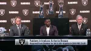 Oakland Raiders general manager Mike Mayock and head coach Jon Gruden talk about recruiting wide receiver Antonio Brown [Video]