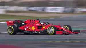 Sebastian Vettel testing his Ferrari SF90 [Video]