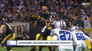 Le'Veon Bell 'back in the green,' getting $52.5 million deal from Jets [Video]