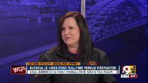 Batesville hires first full-time female firefighter [Video]