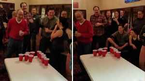 Game On! 85-year-old Identical Twins Celebrate Birthday With Epic Beer Pong Game [Video]