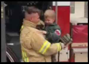 Dad Returning Home From Six-Month Deployment Disguises Himself as Firefighter to Surprise Young Son [Video]