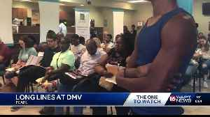 Long lines form at Pearl DMV [Video]