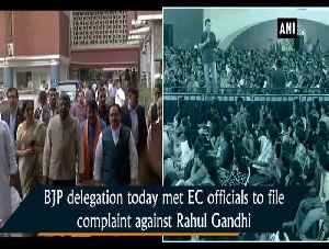 Requested EC to take action against Rahul Gandhi for violating model code of conduct RS Prasad [Video]