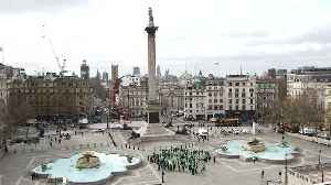 Giant human shamrock formed in London's Trafalgar Square [Video]