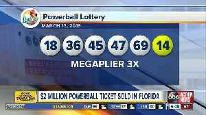 Powerball ticket worth $2 million sold in Florida [Video]
