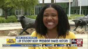 USF's first African-American woman student president elected [Video]