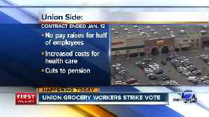 Union grocery store workers strike vote Thursday & Friday [Video]