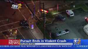 Police Pursuit Ends With Crash In Baldwin Park [Video]