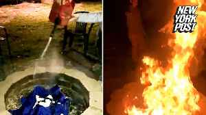 News video: Giants fans burn Odell Beckham Jr shirts following trade to Cleveland Browns