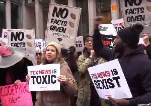Protesters Rally Outside NY Headquarters of Fox News [Video]