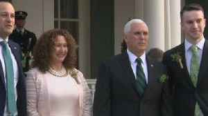 Varadkar and partner meet gay marriage critic Pence [Video]