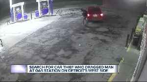 Search for car thief who dragged man at gas station on Detroit's west side [Video]