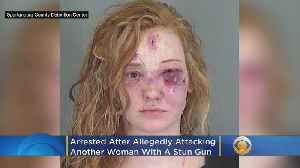 News video: Police: Woman Arrested After Stun Gun Attack Outside Victim's Home