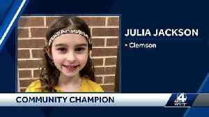 CommUNITY Champion: 8-year-old raises money to help classmates [Video]