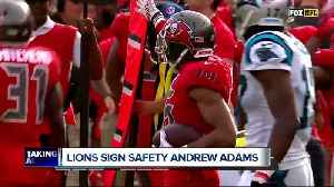 Lions sign safety Andrew Adams, OL Oday Aboushi [Video]