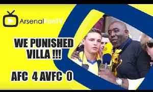 We Punished Villa !!!  | Arsenal 4 Aston Villa 0 | FA Cup Final [Video]