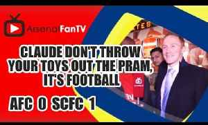 Claude Don't Throw Your Toys Out The Pram, It's Football | Arsenal 0 Swansea 1 [Video]
