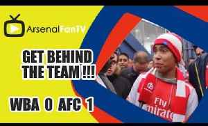GET BEHIND THE TEAM !!! [Fan Reacts To Anti Wenger Banner] - West Brom 0 v Arsenal 1 [Video]
