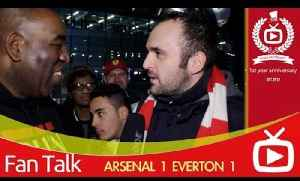 Arsenal FC 1 Everton 1 - Half Of Everton's Team Are Loan Signings [Video]