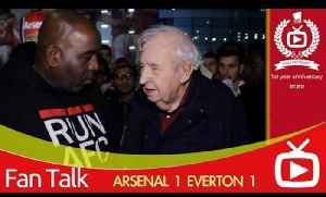Arsenal FC 1 Everton 1 - Fan Who Has Been Supporting Arsenal For 46 Years [Video]