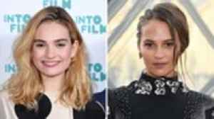 News video: Alicia Vikander and Lily James Join 'One Red Nose Day and a Wedding' Cast | THR News