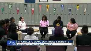 Michelle Obama, Conan O'Brien surprise students in Milwaukee [Video]