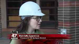 Lansing school board holds meeting at construction site for new high school [Video]