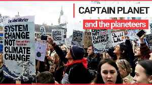 News video: Thousands of schoolchildren gathered outside Westminster for a protest about climate change