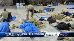 Members of 155th delayed by weather [Video]