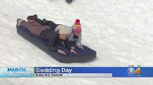 Snow Day From School Means Sledding Day For KIds [Video]