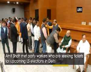 Amit Shah meets party workers seeking tickets [Video]