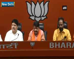 News video: TMC sitting MLA Arjun Singh joins BJP