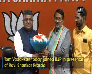 Tom Vadakkan joins BJP in presence of Ravi Shankar Prasad [Video]